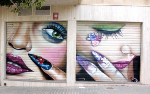 Decoración de cierres con graffiti profesional